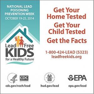 Lead Poisoning Prevention Week Oct. 19 -25