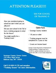 training grants career center