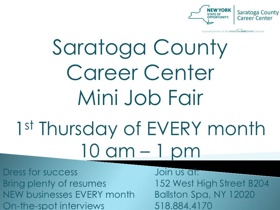 Employment and Training – Saratoga County New York